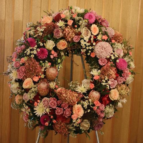 Blütenkranz Rosa-Rot-Tönen