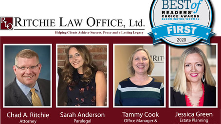 Ritchie Law Office, Ltd. Voted #1 Best Law Firm in 2020 Pantagraph Reader's Choice Awards