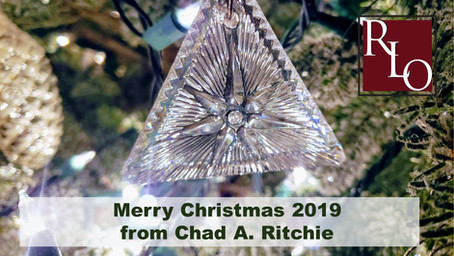 Merry Christmas 2019 from Chad A. Ritchie