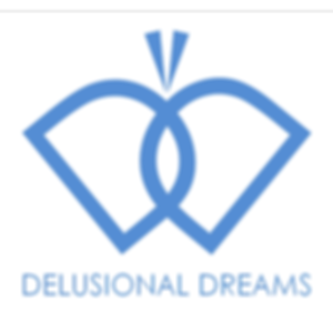 Delusional Dreams logo butterfly illustrator writer