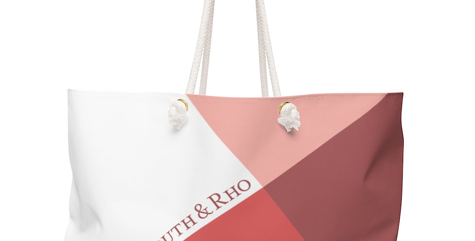 Sunset Peach Weekender Bag Tilt