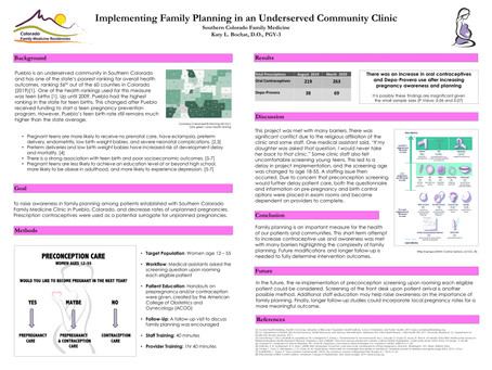 Implementing Family Planning in an Underserved Community Clinic