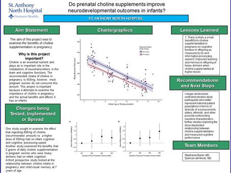 Do prenatal choline supplements improve neurodevelopmental outcomes in infants?