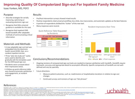 Improving quality of computerized sign-out for inpatient family medicine