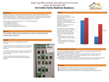 Improving OB continuity through basic office interventions
