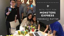 Players testing Monsters Express