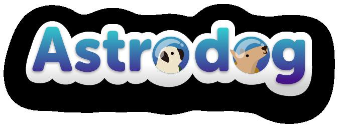 Astrodog logo mobile games