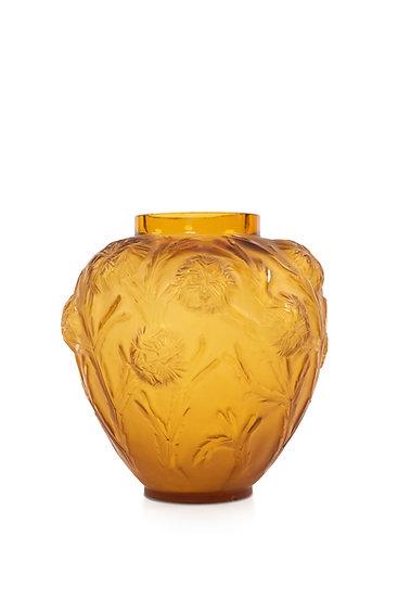 1135 SABINO - MAURIUS ERNEST SABINO - Vase décor chardons