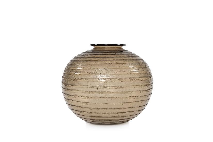 1171 DAUM FRERES - Vase Décor D'Or Lunaire - c 1930