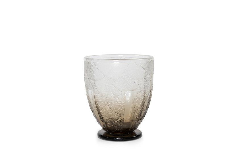 CHARLES SCHNEIDER - Art Deco design glass vase - c 1929