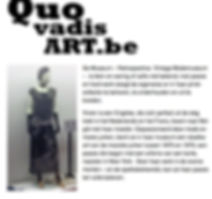 Artikel op website QUOVARDISART.BE