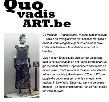 Artikel op website QUOVARDISART.BE