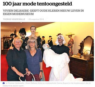 Artikel uit HLN rond opening Modemuseum