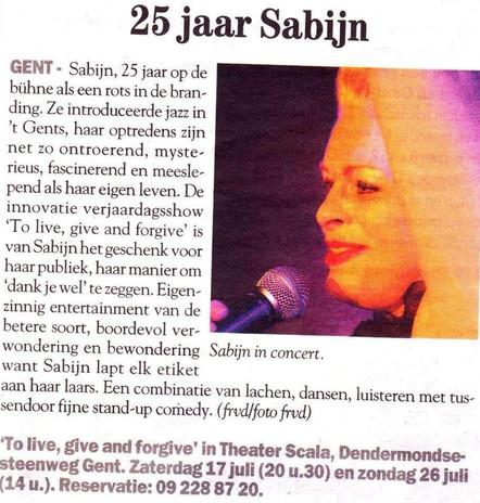 SABIJN - 25 jaar Sabijn