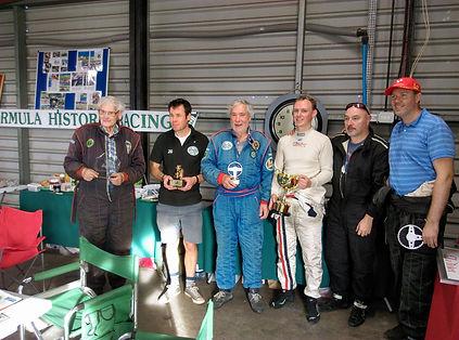 Award ceremony post race
