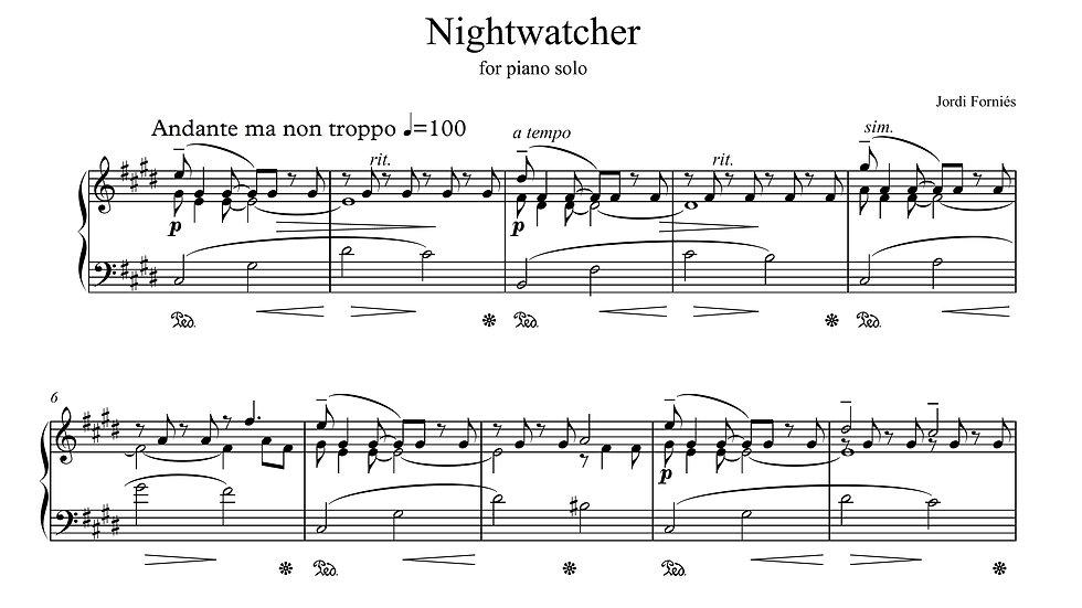 Night Watcher - Piano Solo - Jordi Forniés