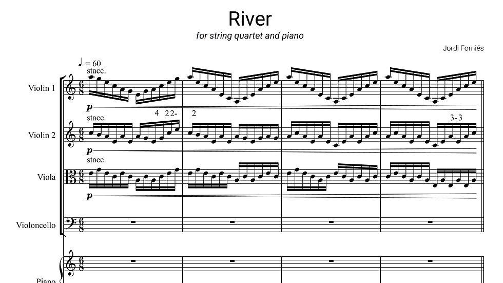 RIVER - String quartet and piano - Jordi Forniés