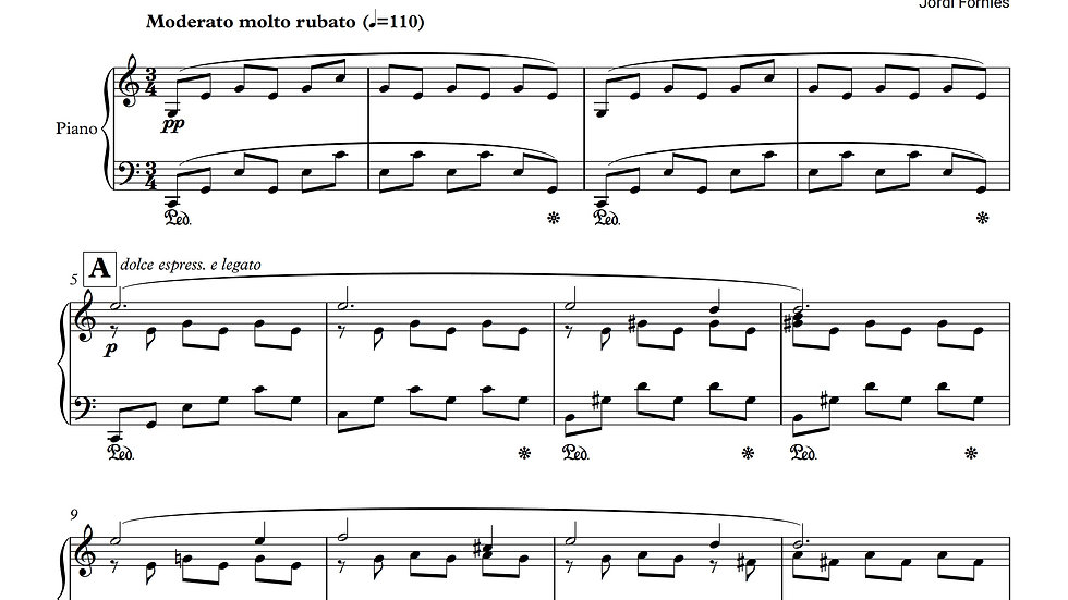 THE MUSIC PAINTER - Solo Piano - Jordi Forniés