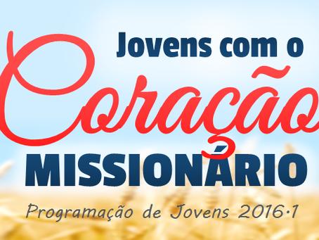 """""""Jovens com o Coração Missionário"""" é o tema da Mocidade Manancial em 2016.1"""
