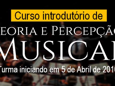 Curso de Teoria e Percepção Musical - com o Pr. Jaime Jr (Abril de 2016)