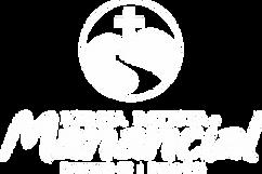 Logo branca Igreja Batista Manancial em Fortaleza CE