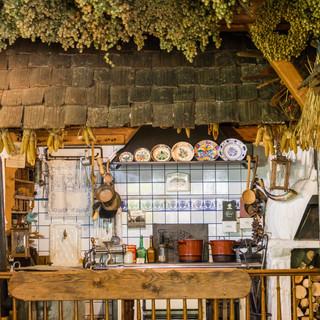 Historische voll funktionsfähige Küche
