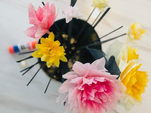 April: Spring has Sprung Paper Flower Kit(Virtual)