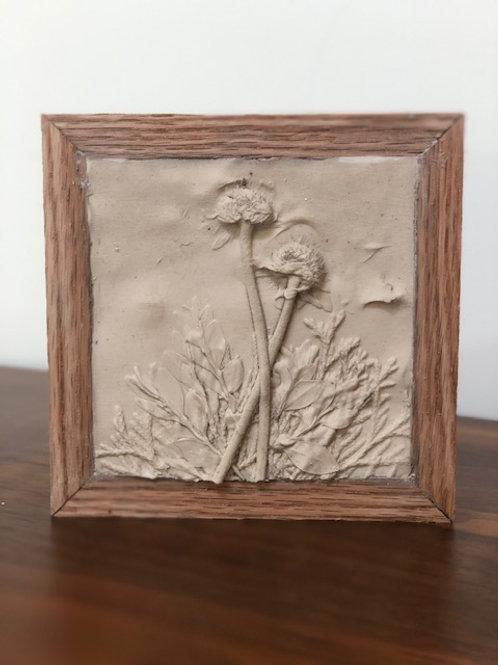 """New"" Garden Memories - Plaster Relief Art Take Home Craft Kit"