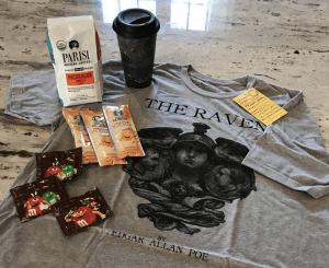 Giveaway Image of t-shirt, coffee, mug