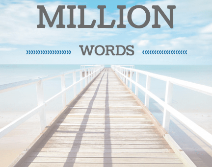 Writing Wednesday: One Million Words