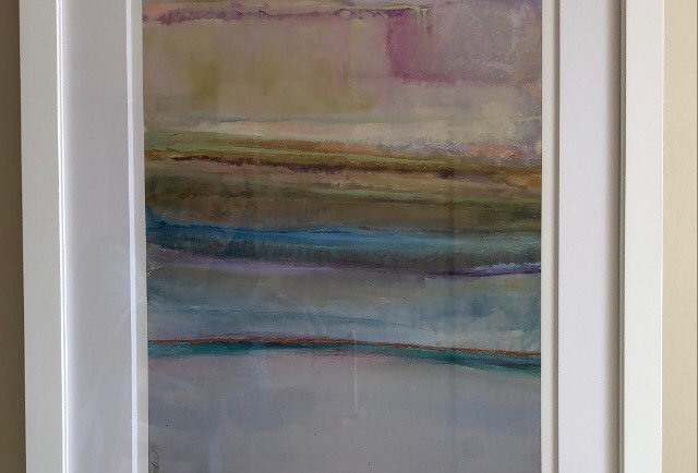 Textile Terrain 1  18 x 24