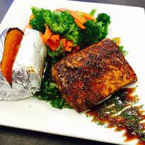 Blackened Salmon Dinner