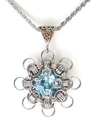Aquamarine Morning Star Pendant
