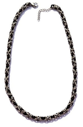 Black & Silver Chain Necklace