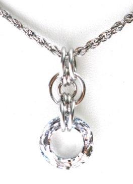 Circular Swarovski Crystal Necklace