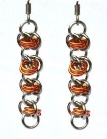 Copper & Aluminum Orbital Earrings