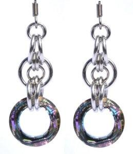 Vitrial Light Swarovski Circular Earrings
