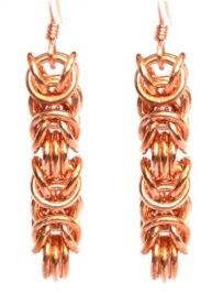 Copper Byzantine Earrings