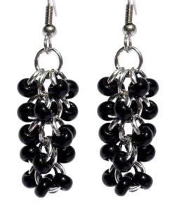 Black Shaggy Loop Earrings