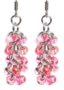 Pink Shaggy Loop Earrings