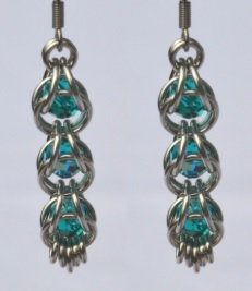 Captured Blue Zircon Swarovski Crystal Earrings