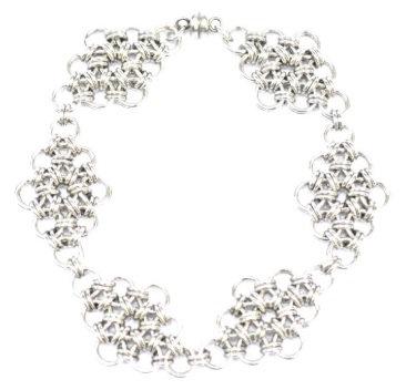 Silver Diamond Shaped Bracelet