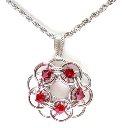 Siam Swarovski Crystal Flower Pendant