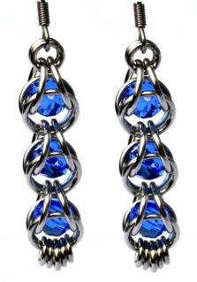Captured Capri Blue Swarovski Earrings