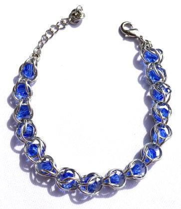 Captured Sapphire Swarovski Crystal Bracelet