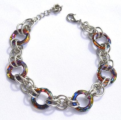 Circular Swarovski Volcano Bracelet