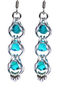 Captured Blue Zircon Swarovski Crystal Earrings