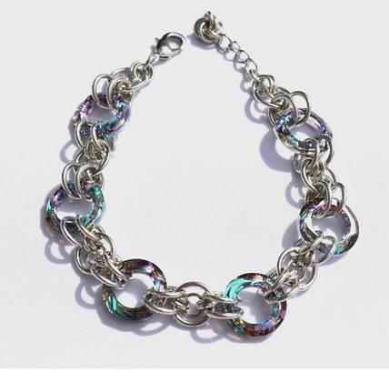 Circular Swarovski Vitrail Light Bracelet