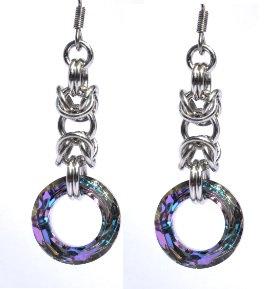 Vitrail Light Swarovski Byzantine Earrings