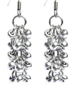 Metallic Silver Shaggy Loop Earrings